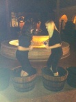 Orange county wine grape stomping